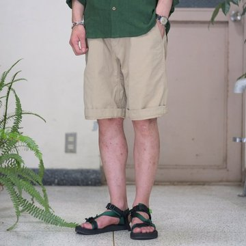 MASTER&Co.(マスターアンドコー) CHINO SHORTS with BELT -(82)BEIGE-