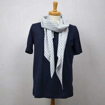 【40% off sale】ts(s)(ティーエスエス) Indian Madras Stripe Scarf -(93)Gray Stripe-