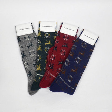 【30% off sale】White Mountaineering(ホワイトマウンテニアリング) Reindeer Pattern Middle Socks