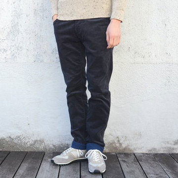 【40% off sale】White Mountaineering(ホワイトマウンテニアリング) STRETCH CORDUROY SLIM PANTS -NAVY/BLUE-