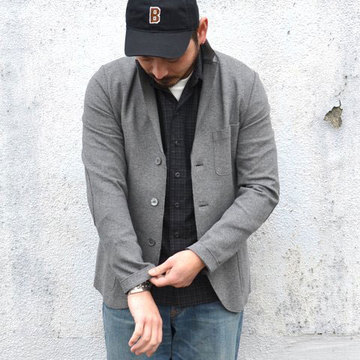 Harris Wharf London (ハリスワーフロンドン) Man Jacket Interlock -(140)middle grey-