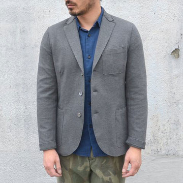 Harris Wharf London (ハリスワーフロンドン) Man Jacket Piquet -(140)middle grey-