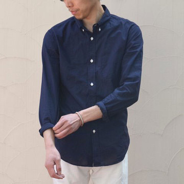 BAND OF OUTSIDERS(バンドオブアウトサイダーズ) L/S Button Down Shirt -(77)navy-