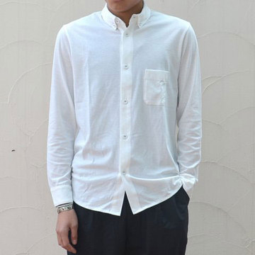 【40% off sale】FLISTFIA(フリストフィア) Long Sleeve B.D. Shirts -White-
