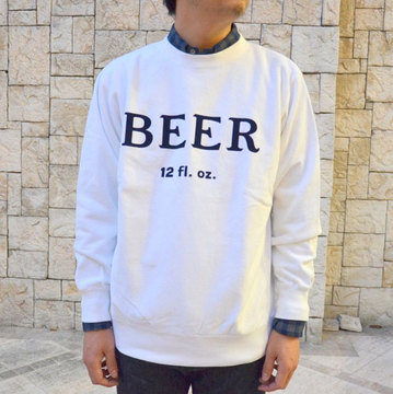 FUNG(ファング) BEER Sweat-WHITE-