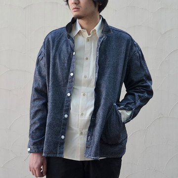 TENDER Co.(テンダー) HIGH BACK SHIRT -INDIGO-