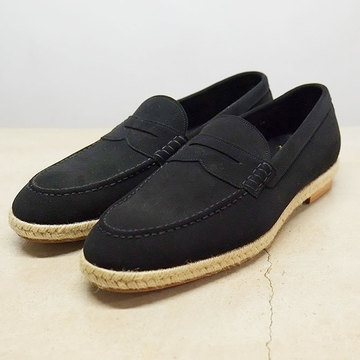 【50% OFF SALE】foot the coacher (フットザコーチャー) COIN LOAFER(ESPADRIILE) -BLACK SUPER BUCK-