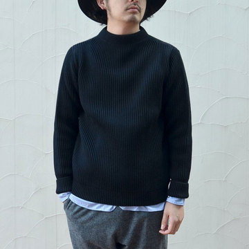 ANDERSEN-ANDERSEN(アンデルセン アンデルセン) SAILOR SWEATER (CREW NECK) -BLACK- #AA1821003