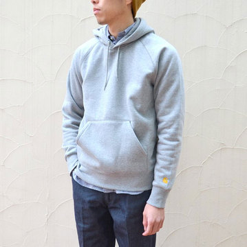 Carhartt(カーハート) Hooded Chase Sweat-Grey Heather-