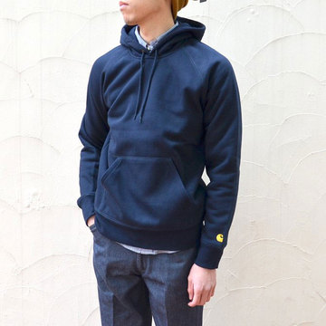 Carhartt(カーハート) Hooded Chase Sweat-NAVY-