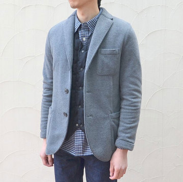 Harris Wharf London (ハリスワーフロンドン) Man Jacket Polaire -(140)middle grey-