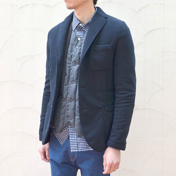 Harris Wharf London (ハリスワーフロンドン) Man Jacket Polaire -(358)navy blue--