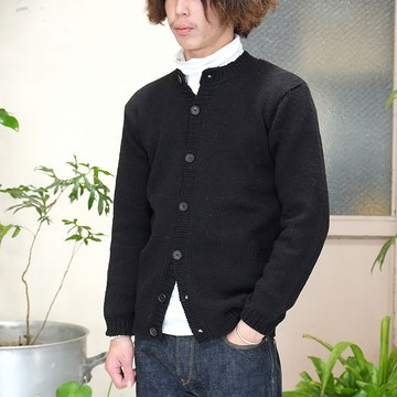 【40% off sale】Bergfabel(バーグファベル) Hand Made Cardigan -BLACK