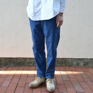 semoh(セモー) cotton chino taipered pants -blue-