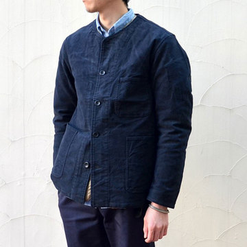 A VONTADE(ア ボンタージ) NO COLLAR COVERALL -BLACK-