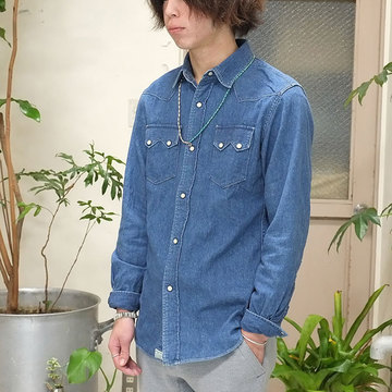 orSlow(オアスロウ) WESTERN SHIRTS -(95) Denim 2year wash -