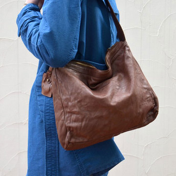 christian peau(クリスチャン ポー) LEATHER BAG -BROWN- #BD-20