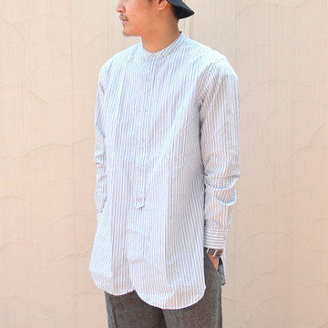 MOJITO(モヒート) CLARENCE SHIRT -WHITE/BLUE-