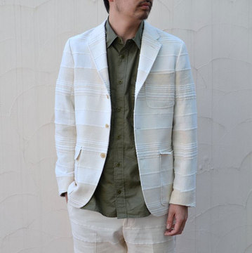 KENNETH FIELD (ケネスフィールド) 50S LINCON INDIA CLOTH JACKET-OFF WHITE-