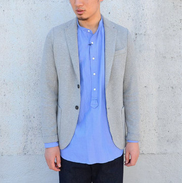 Harris Wharf London (ハリスワーフロンドン) 2B Blazer Interlock -(130)Light Grey-