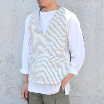 【40% off sale】 TATAMIZE(タタミゼ) P/O Vest -STRIPE-