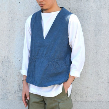 【40% off sale】 TATAMIZE(タタミゼ) P/O Vest -CHAMBRAY-