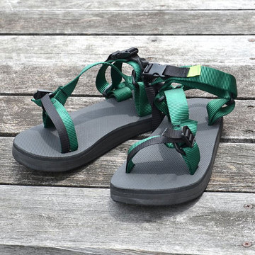 【30% OFF SALE】D.ROUNDY(ディラウンディ) RIVER SANDAL -GREEN-