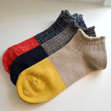 RoToTo(ロトト) LINEN COTTON RIB SOCKS SHORT -3色展開-
