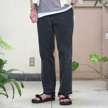 7 ×7 / seven by seven ( セブン バイ セブン )   REWORK DENIM TROUSERS  - BLACK - size XS 【別注】