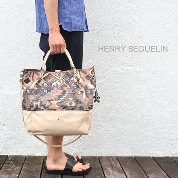 HENRY BEGUELIN(エンリーベグリン) New Sacca Shopping tessutoe etn -Acacia-