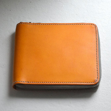 ARTS & CRAFTS(アーツアンドクラフト) ELBAMATT ACC ZIP-ROUND BILLFOLD WALLET-YELLOW