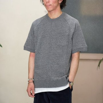 【30% off sale】【2016 AW】FLISTFIA(フリストフィア) Wool Short Sleeve Pull Over -Middle Gray-  #WS01016