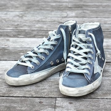 GOLDEN GOOSE (ゴールデングース) SNEAKER FRANCY -(A5)NAVY DENIM- #GCOMS591