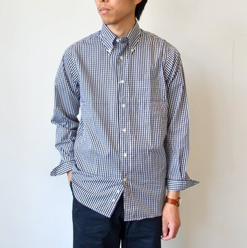 【2016 AW】INDIVIDUALIZED SHIRTS(インディビジュアライズドシャツ) GINGHAM CHECK B.D (Standard fit) -BLACK×WHITE- #INSH-00256