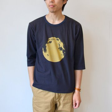 【40% off sale】WHITE LINE(ホワイトライン) vintage T-shirts(Kurry) -NAVY- #WLC3143