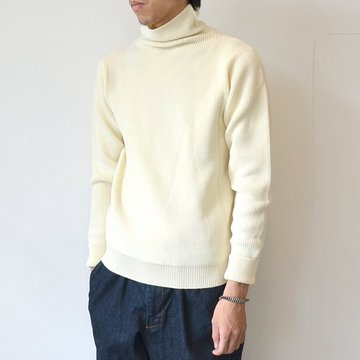 ANDERSEN-ANDERSEN(アンデルセン アンデルセン) SAILOR SWEATER TURTLE NECK(7Gauge) -OFF WHITE- #AD-001