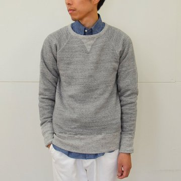 KENNETH FIELD (ケネスフィールド) SWEAT RAGLAN SLEEVE -GREY- #16FW-28
