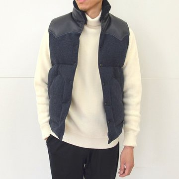 Rocky Mountain Featherbed(ロッキーマウンテンフェザーベッド) CHRISTY DOWN VEST/TWEED -(500)NAVY- #450-512-06