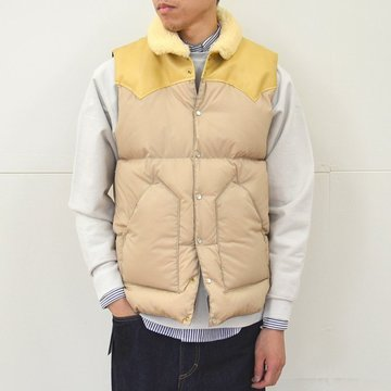 Rocky Mountain Featherbed(ロッキーマウンテンフェザーベッド) CHRISTY DOWN VEST/NYLON -(110)TAN- #450-512-02