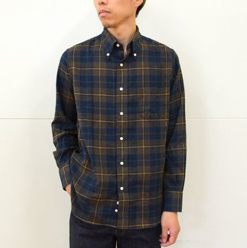 INDIVIDUALIZED SHIRTS(インディビジュアライズドシャツ)/1921 Check Standard Fit-Navy Check- #INSH-00273