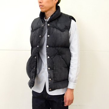 Rocky Mountain Featherbed(ロッキーマウンテンフェザーベッド)/  DENIM DOWN VEST -(590)BLACK- #450-512-03-BK
