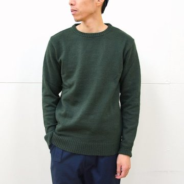commono reproducts(コモノリプロダクツ) Crew Neck Knit -moss green- #CRW6003