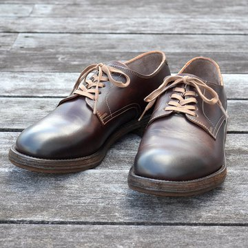 MOTO(モト)/Plain Toe Oxford #1648 -BROWN- #1648