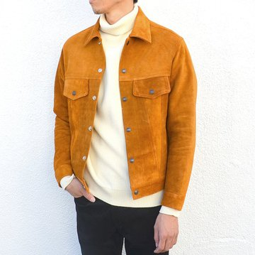A VONTADE(ア ボンタージ) Suede Trucker Jacket -BROWN SUEDE- RD-084-16-FW