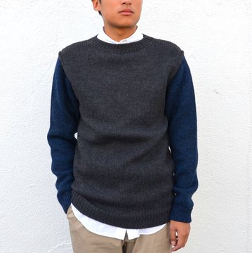 semoh(セモー)/WOOL SWITCHING KNIT -GREY- #10008-01