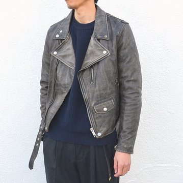【40% off sale】GOLDEN GOOSE (ゴールデングース) CHIODO GOLDEN -(A1)BLACK WASHED- #G29MP537