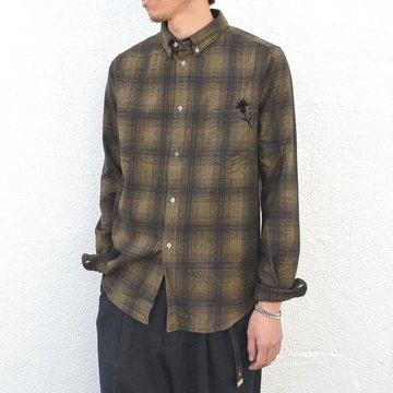 【50% off sale】GOLDEN GOOSE (ゴールデングース) SHIRT GOLDEN -(A1)BROWN/KHAKI CHECK- #G29MP522