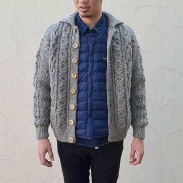 INVERALLAN(インバーアラン) 3A Lumber Cardigan(日本正規品)Naturally-Neutral -BRACKEN(N603)- (SIZE40。、42)