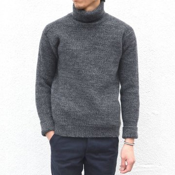 【40% off sale】 S.E.H KELLY(エス・イー・エイチ・ケリー) / WELSH LAMBSWOOL ROLLNECK -GREY- #5022001