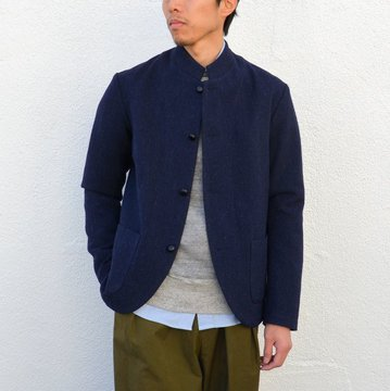 KENNETH FIELD (ケネスフィールド) UNION PACIFIC JACKET FOX HERRINGBORN -NAVY- #16FW-52